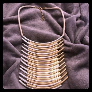 BCBG rope and two tone necklace